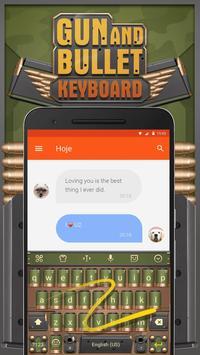 Gun and Bullet Keyboard Theme for Snapchat apk screenshot