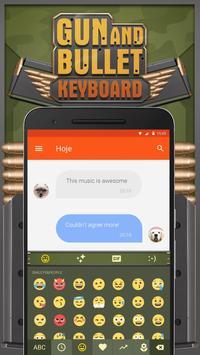 Gun and Bullet Keyboard Theme for Snapchat poster