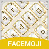 Luxury Gold & Glitter Diamond Emoji Keyboard icon