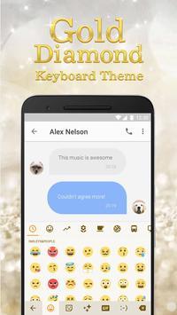 Luxury Gold & Glitter Diamond Emoji Keyboard poster
