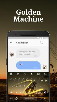 Golden Machine Keyboard Theme & Emoji Keyboard apk screenshot