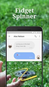 Hand Fidget Spinner Keyboard Theme for Hangouts apk screenshot