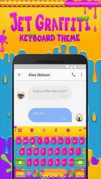 Jet Graffiti Emoji Keyboard Theme apk screenshot
