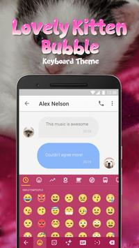Lovely Kitten Bubble Keyboard Theme for Snapchat poster
