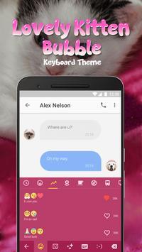 Lovely Kitten Bubble Keyboard Theme for Snapchat screenshot 2
