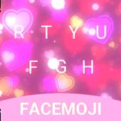 Pink Heart Emoji Keyboard Theme for Facebook icon