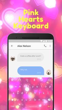 Pink Heart Emoji Keyboard Theme for Facebook apk screenshot