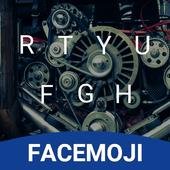 Steel Metal Emoji Keyboard Theme for Facebook icon