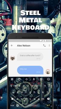 Steel Metal Emoji Keyboard Theme for Facebook apk screenshot