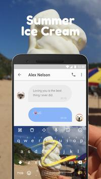 Summer Ice Cream Keyboard Theme for Hangouts apk screenshot