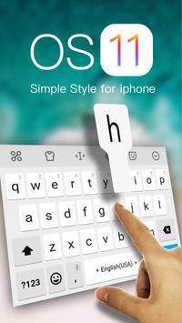 Simple Style Keyboard Theme for iPhone iOS 11 poster
