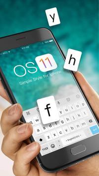 Simple Style Keyboard Theme for iPhone iOS 11 apk screenshot