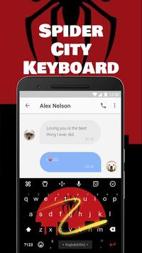 Spider City Emoji Keyboard Theme for Instagram apk screenshot