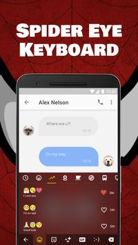 Spider Eye Keyboard Theme for Samsung and Snapchat apk screenshot