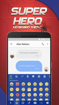 Spider Hero Emoji Keyboard Theme for Snapchat poster