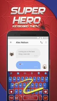 Spider Hero Emoji Keyboard Theme for Snapchat apk screenshot