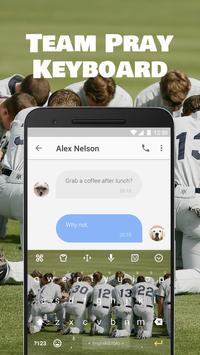 Baseball Team Pray Emoji Keyboard Theme for MLB apk screenshot