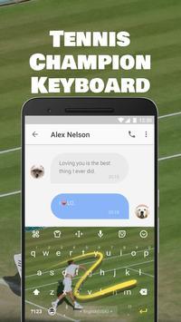 Tennis Champion Emoji Keyboard Theme for Djokovic screenshot 3