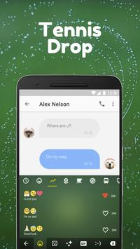 Tennis Drop Emoji Keyboard Theme for grand slam apk screenshot