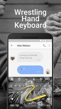Wrestling Game Emoji Keyboard Theme for Snapchat apk screenshot