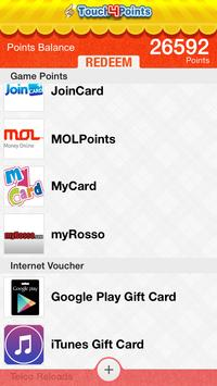 Touch4Points - Gift/Game Cards apk screenshot