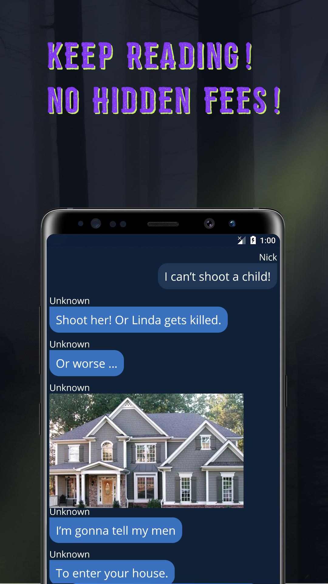 Scary Chat Stories - Free & Hooked with Addicted for Android