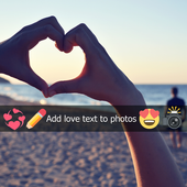 Add Love Text to Photos icon