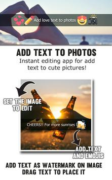 Add Love Text to Photos poster