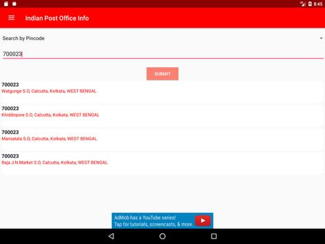 Indian Post Office Information(pincode and phone) apk screenshot