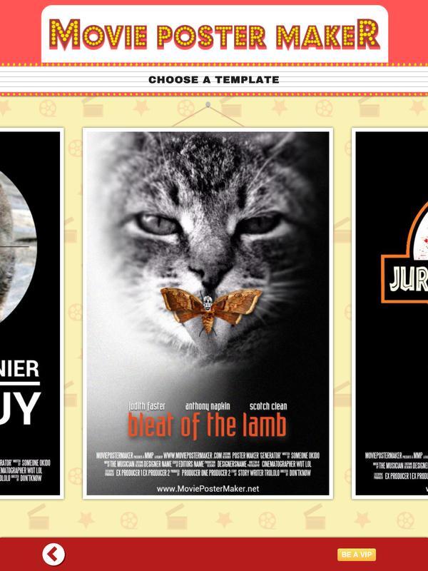 movie poster maker template apk download free. Black Bedroom Furniture Sets. Home Design Ideas