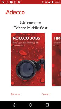 Adecco Middle East poster