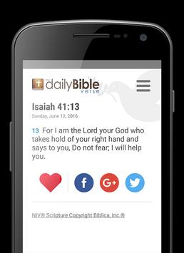 Daily Bible Verse poster