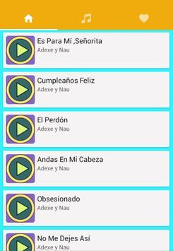 Musica Adexe y Nau Con Letras apk screenshot