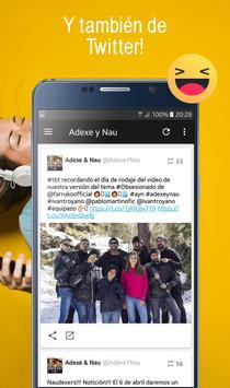 Adexe y Nau, Fan app de los hermanos Adexe & Nau screenshot 5