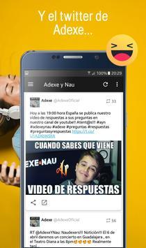 Adexe y Nau, Fan app de los hermanos Adexe & Nau screenshot 6