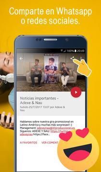 Adexe y Nau, Fan app de los hermanos Adexe & Nau screenshot 3