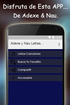 Adexe y Nau Letras Gratis poster