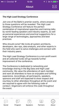 High Load Strategy Conference apk screenshot