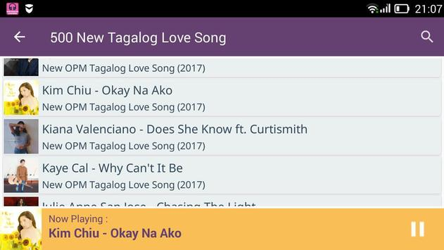 500 New Tagalog Love Songs screenshot 2