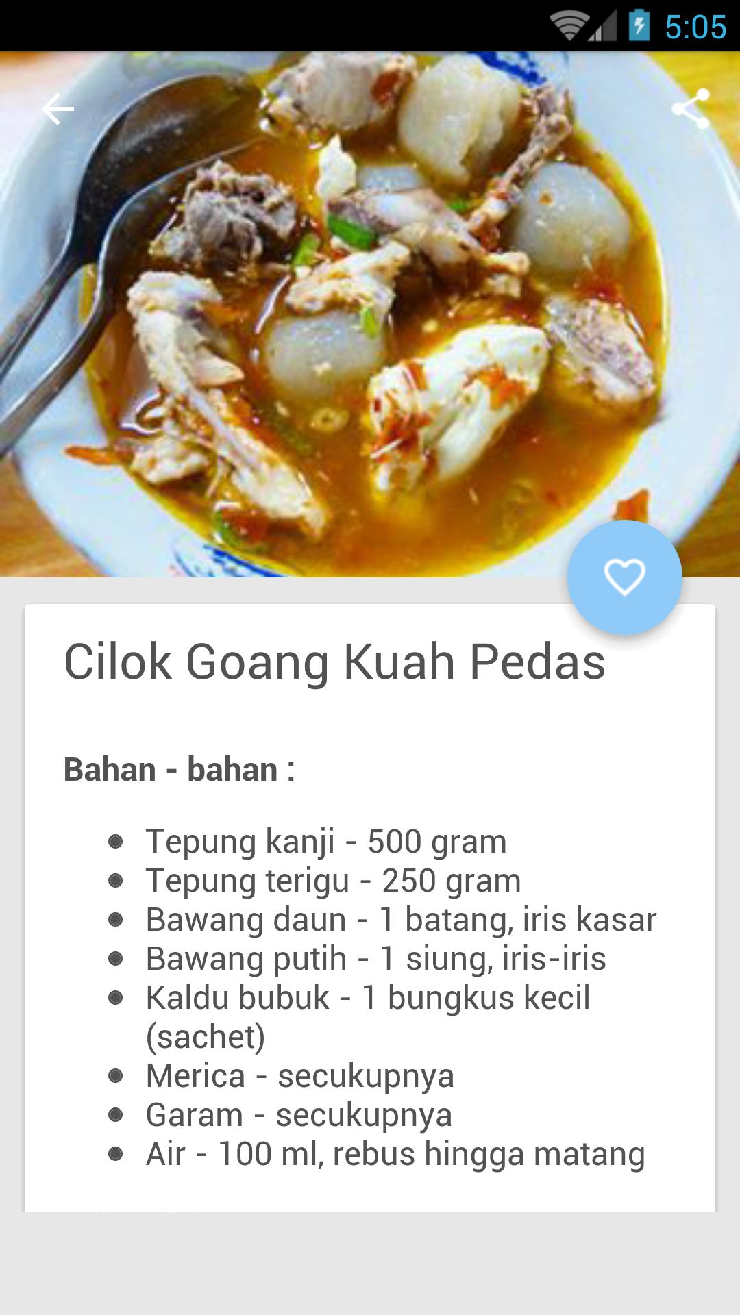 Resep Cilok Kuah For Android Apk Download