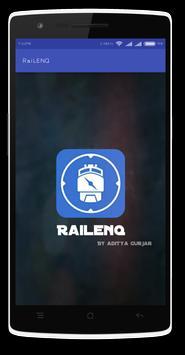 RAILENQ-Indian Rail Train Info poster