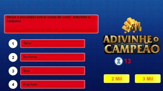 Adivinhe o campeão League of M screenshot 2