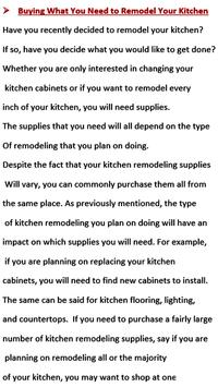Kitchen Remodeling Ideas poster