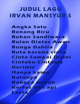 Mp3 Irvan Mansyur S Terpopuler apk screenshot