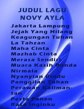 Top Mp3 Novy Ayla Terpopuler apk screenshot