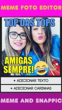 Criador de MEME Foto Editor Texto Carinhas Na Foto poster