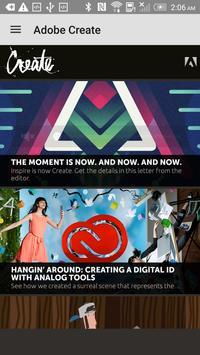 Adobe Create magazine poster