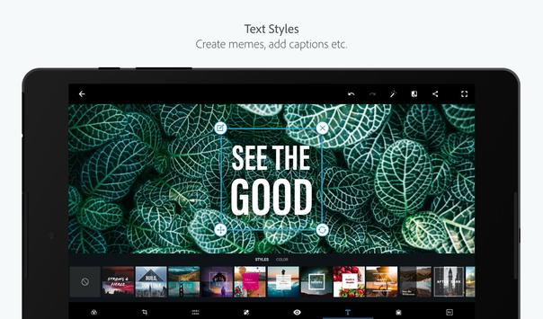 Adobe Photoshop Express: foto-editor/collagemaker APK-screenhot