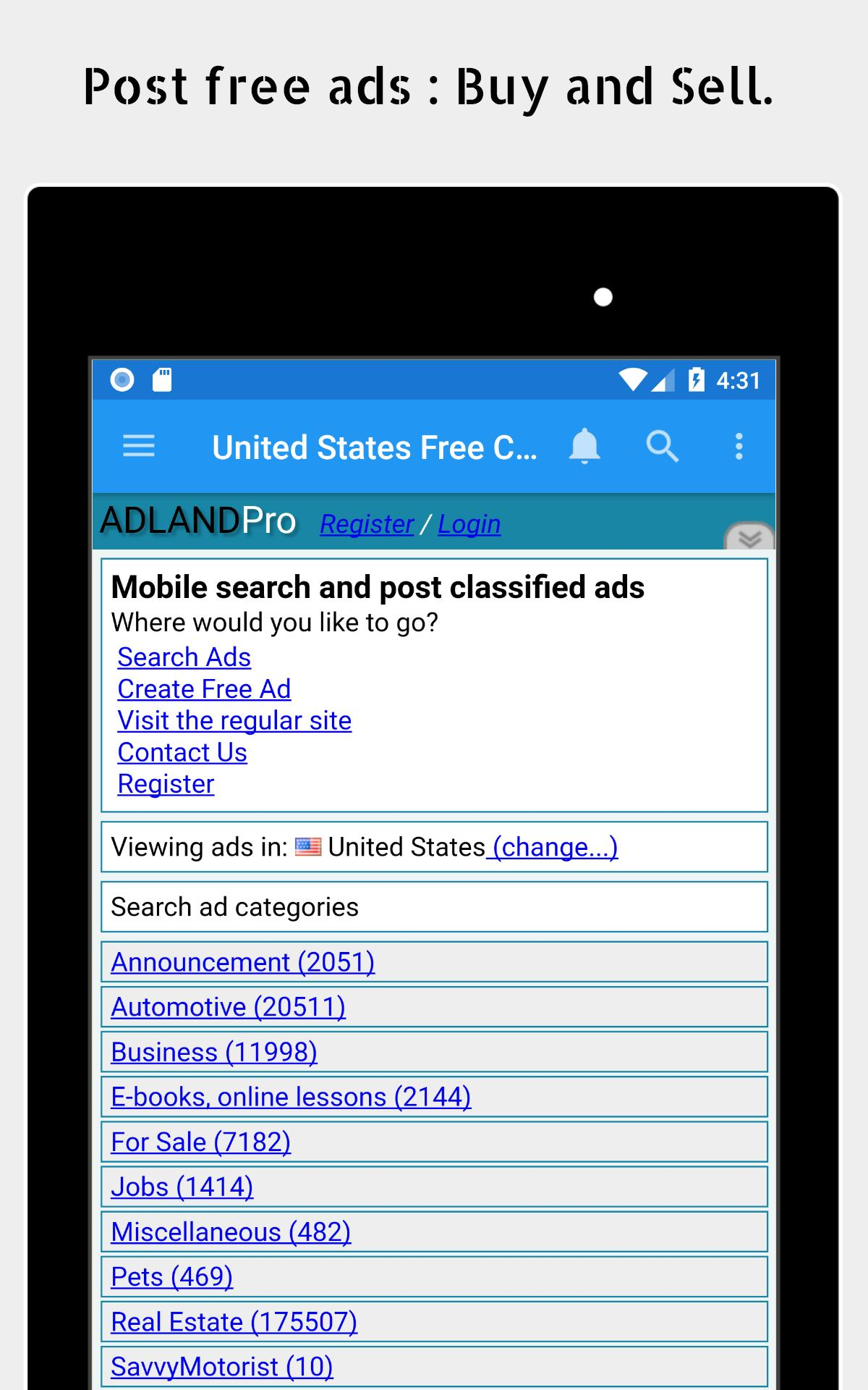 AdLandpro com - Post Free Classified Ads for Android - APK Download
