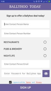 Ballyhoo Merchant App screenshot 1
